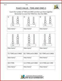 math worksheet : free math place value worksheets tens ones 3  math  pinterest  : Free Maths Worksheets Ks1