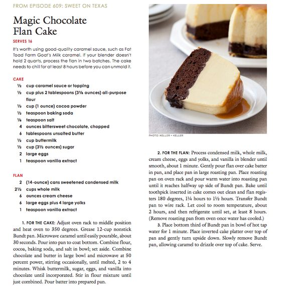 America's Test Kitchen/Cook's Country Magic Chocolate Flan ...