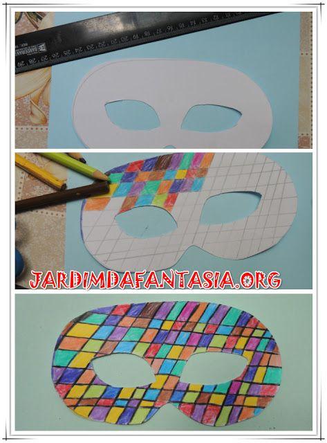 Projeto de Artes Máscara para baile                              …
