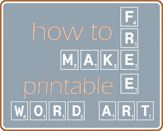 make free word art