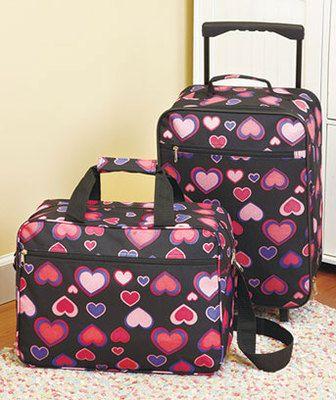 Luggage sets, Girls luggage and Girls on Pinterest
