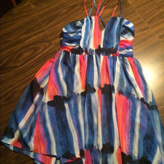 Multicolored short Dress Multicolored short dress, candies, ladies small Dresses