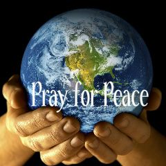 lets pray for world peace   ... objects and shopping, a little reminder to remember Pray for Peace