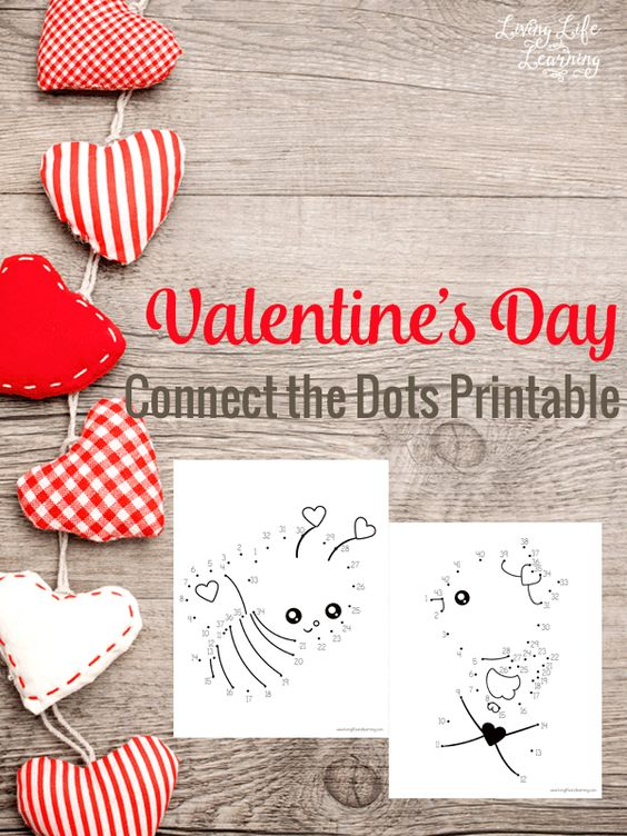 Cool Valentine's day activity for kids - join the dots fun - free printable