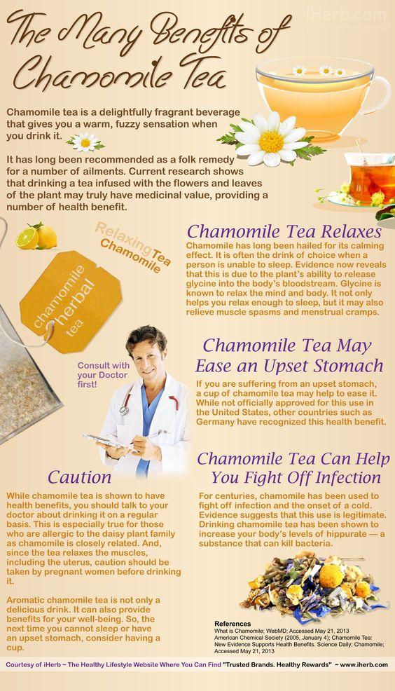 Benefits of Chamomile Tea (Infographic)