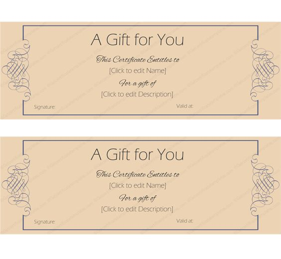 Gift Certificate Template Beautiful Printable Gift Certificate - money voucher template