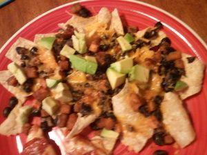 sweet potato and black bean nachos