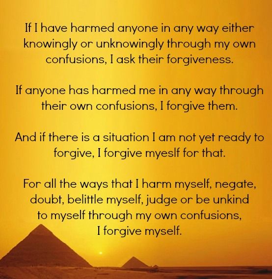 Buddhist prayer of forgiveness.: