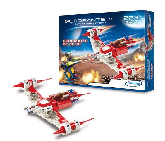 0557.6 - Blocos de Encaixe Quadrante X A Última Fronteira Esquadrão de Elite   Contém 223 peças.  Faixa Etária: +6 anos   Jogos e Brinquedos   Xalingo Brinquedos   Crianças