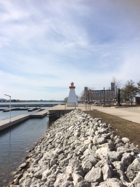 A great day for a stroll along the #waterfront #trail in #collingwood. #HarbourlandsPark #Ontario
