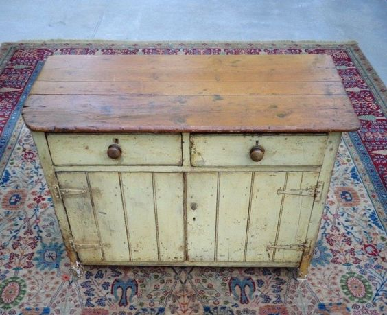 Antique Primitive Southern Pine Yellow Paint Pie Safe Jelly Cupboard  Cabinet #NaivePrimitive #primitivehandmade - Cupboards, Cabinets And Pine On Pinterest