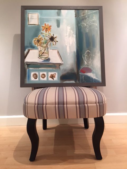 'Nature Morte with Chandelier & Chair' by Kate Kenney