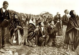 Miracle of the sun October 13 1917, Fatima, Portugal.: