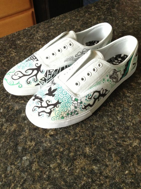 canvas shoes with designs on etsy 39 95