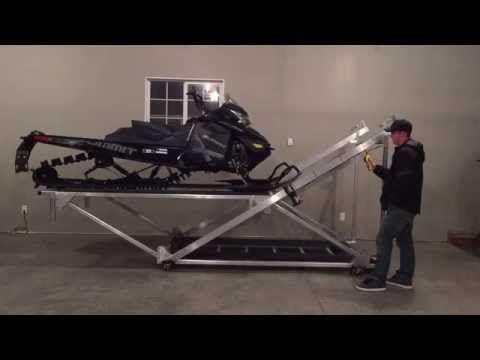 Snowmobile storage rack plans - Google Search. Snowmobile Atv Storage Lift Youtube Atv Storage Garage Lift Snowmobile