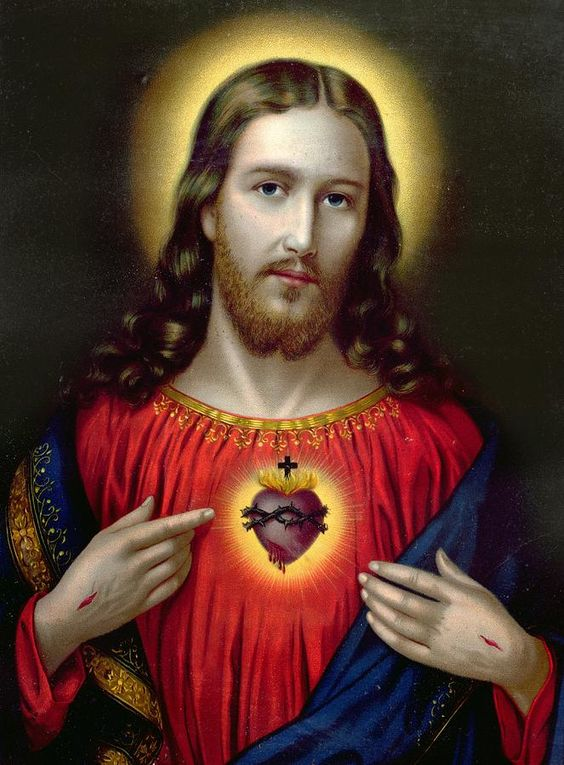 We were blessed to see the original 'The Sacred Heart of Jesus' painting, hanging in a Church in Rome, Italy!  A tearful moment.