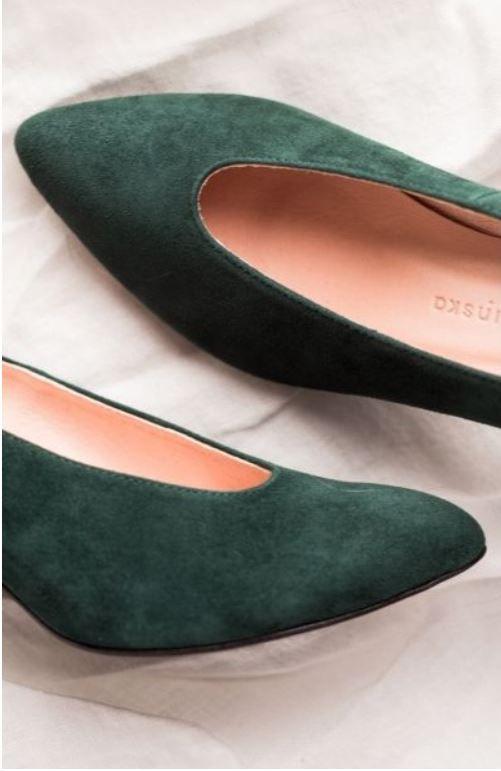 Czolenka W Kolorze Butelkowej Zieleni Shoes Style Fashion
