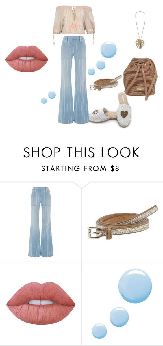 """""""look 81"""" by lucianatsd on Polyvore featuring moda, Frame Denim, Colcci, Lime Crime e Topshop"""