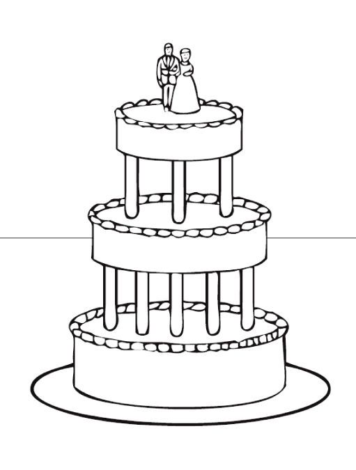 Wedding Cake Coloring Pages 04 Wedding Coloring Pages Coloring Pages For Kids Coloring Pages