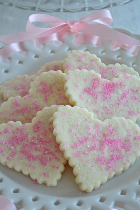 Heart shaped shortbread cookies by Bake Sale Toronto.