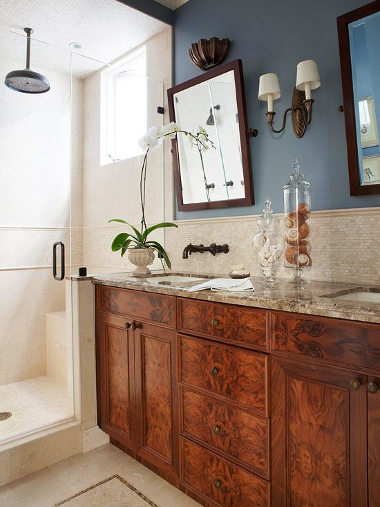 French Country Vanity Lights : Vanities, Cabinets and Shower surround on Pinterest
