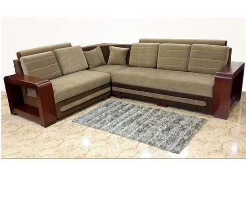 Dark And Light Brown Wooden Frame Corner Sofa Rs 40000 Piece P N A Furniturre Id 14984142973 In 2020 Corner Sofa Design Wooden Sofa Set Wooden Sofa Set Designs