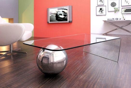 design unique avec la table basse design largo avec une boule en
