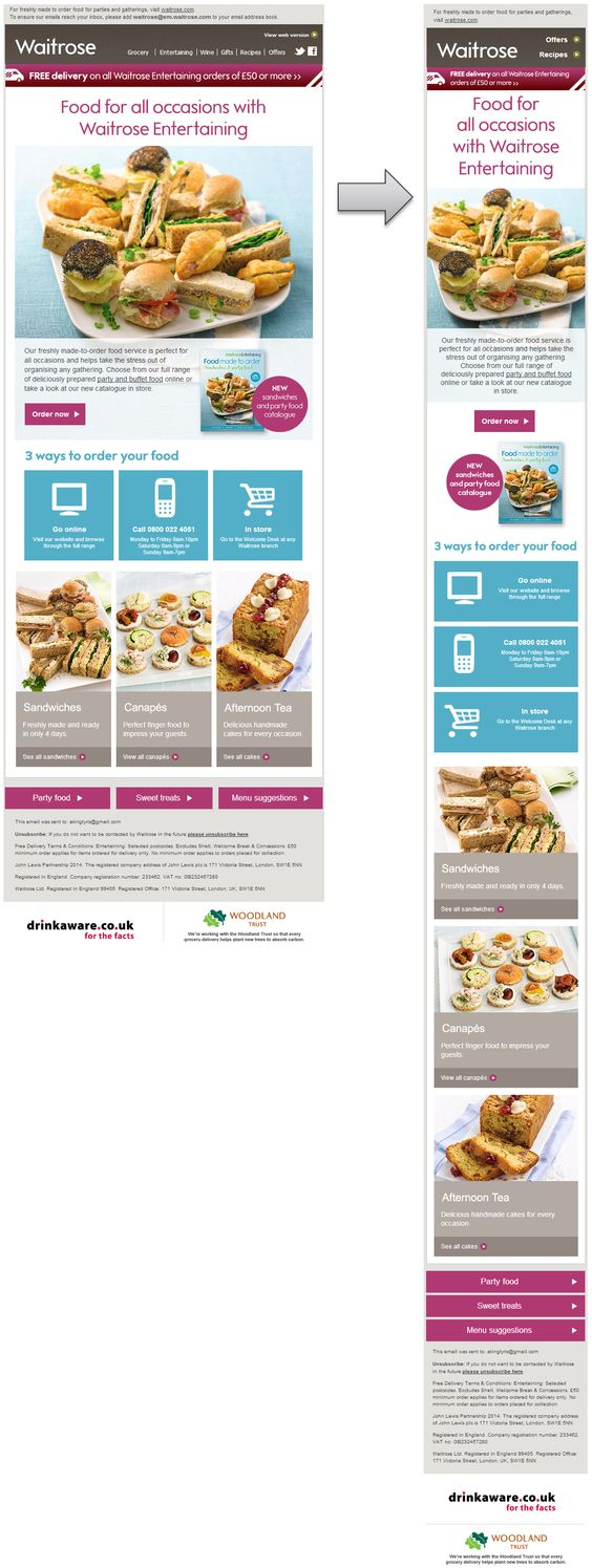 Responsive Email Design from Waitrose #ResponsiveEmailDesign