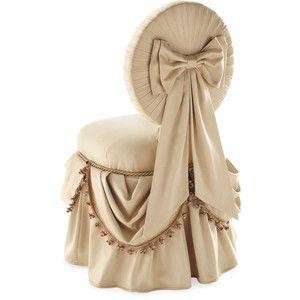 Skirted Vanity Chair Dream Home Pinterest Wedding