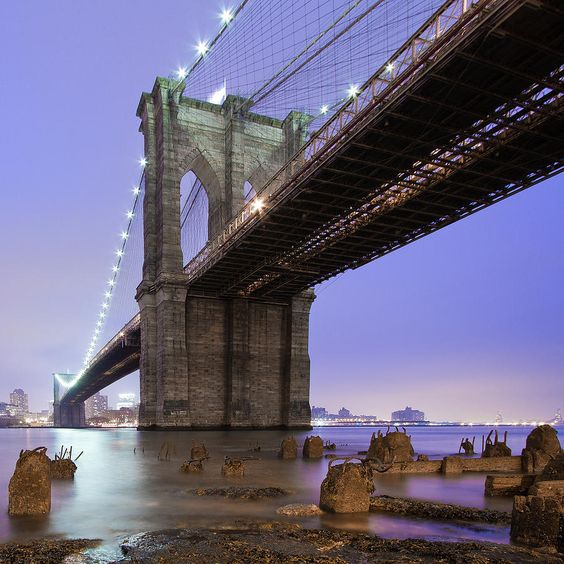✮ Underneath the Brooklyn Bridge, New York - Awesome Pic!