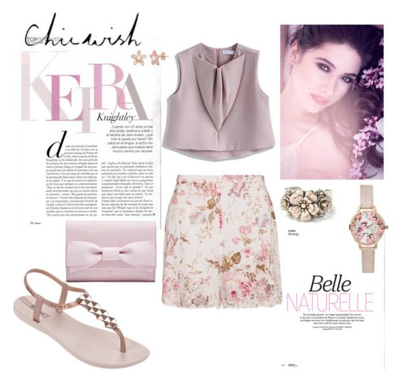 """""""BLOOM"""" by agnesmakoni ❤ liked on Polyvore featuring Chicwish, Zimmermann, IPANEMA, New Look and Sweet Romance"""