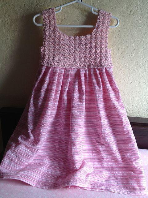 Free Vintage Crochet Yoke Patterns : Children dress, Crochet yoke and How to crochet on Pinterest