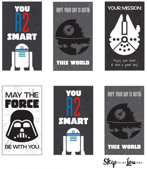 Free Printable Star Wars Lunch Box Notes                                                                                                                                                                                 More: