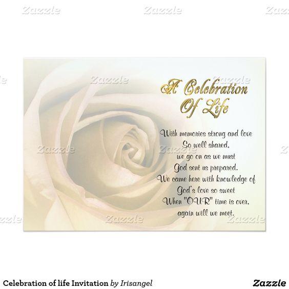 Celebration Of Life Invitations Templates A celebration of a - celebration of life templates