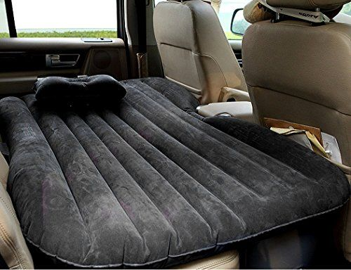 Pump Heavy Duty Inflatable Mattress Cushion SUV Air Bed Car Back Seat Camping