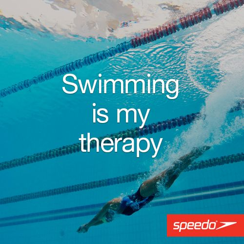 Swimming is my therapy #Speedo #Swimming #Getspeedofit #Therapy #Relax