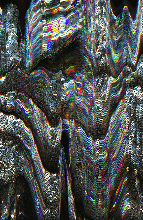 drippy futuristic refracted light rainbow iridescence
