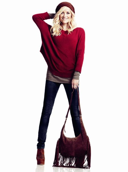 reese witherspoon for lindex (a swedish line)-- want this entire look, hair included.