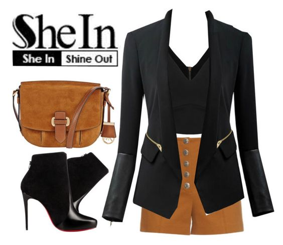 """Shein Contest"" by lunalobina ❤ liked on Polyvore featuring Sonia Rykiel, Chicsense, MICHAEL Michael Kors and Christian Louboutin"