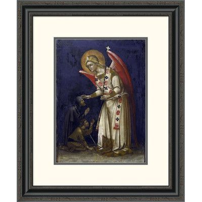 Global Gallery 'Archangel Gabriel' by Guariento Di Arpo Framed Painting Print Size: