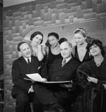 René Blum (later in life) far left. 1936.