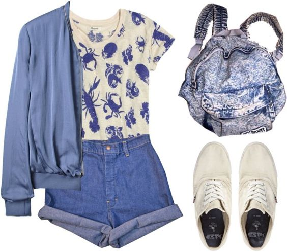 """""""So Blue Over You"""" by burnishedgold ❤ liked on Polyvore"""