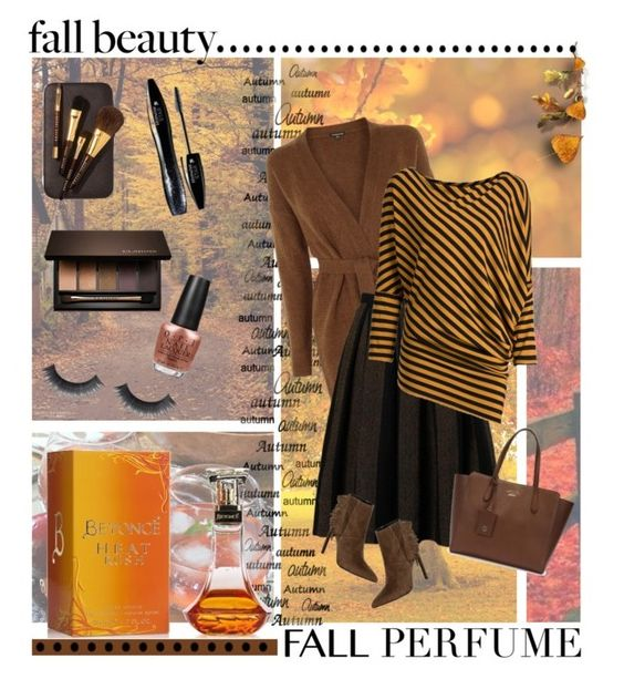 """""""autumn perfume"""" by divacrafts ❤ liked on Polyvore featuring beauty, Warehouse, Gucci, Yves Saint Laurent, OPI, Bobbi Brown Cosmetics, Lancôme, Clarins, Fall and Original"""