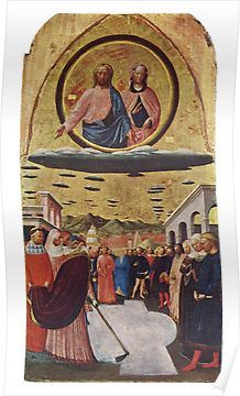 UFOs, in Ancient Art, The Miracle of the Snow, by Masolino da Panicale. Poster
