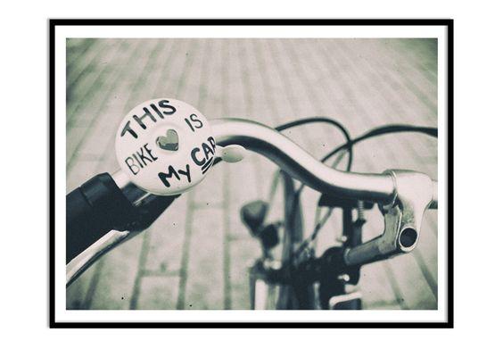 Poster mit Bilderrahmen This Bike is my Car von wall-art.de