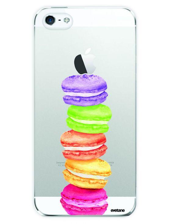 coque iphone   Pack essentiel motif Macaron iPhone 5/5S : Batterie de secours 2600mAh ...
