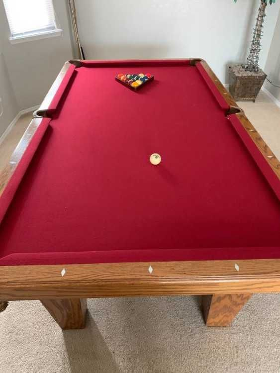 Top Of The Line Connelly 8ft Pool Table Marble Slate Solid Oak New