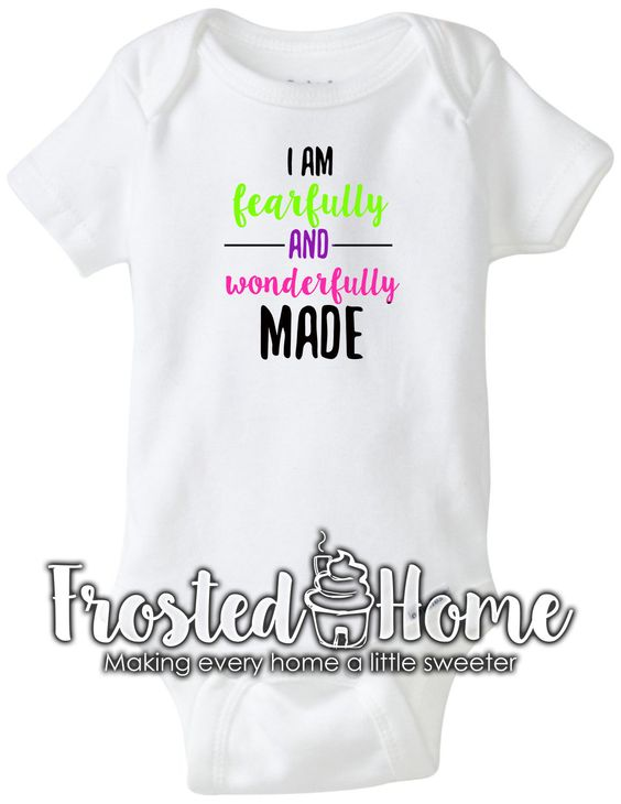 Fearfully and Wonderfully Made Girls Shirt Baby Girl Shirt Baby Girl Baby Girl Clothing Baby Shower Gift Kids Shirt Toddler Girl