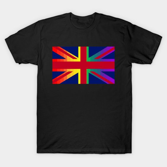 British Union Jack Rainbow Gay Pride Flag T-Shirt