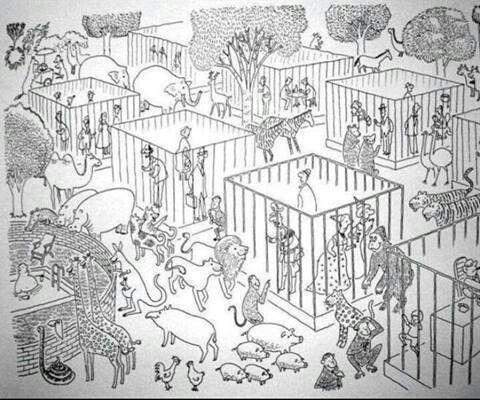 Humanos en zoológico